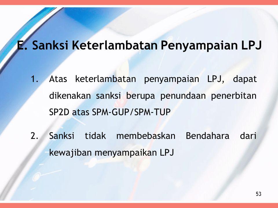 E. Sanksi Keterlambatan Penyampaian LPJ