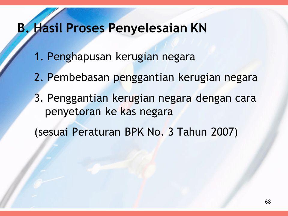 B. Hasil Proses Penyelesaian KN