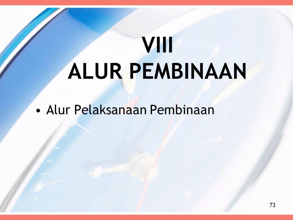 VIII ALUR PEMBINAAN Alur Pelaksanaan Pembinaan 73