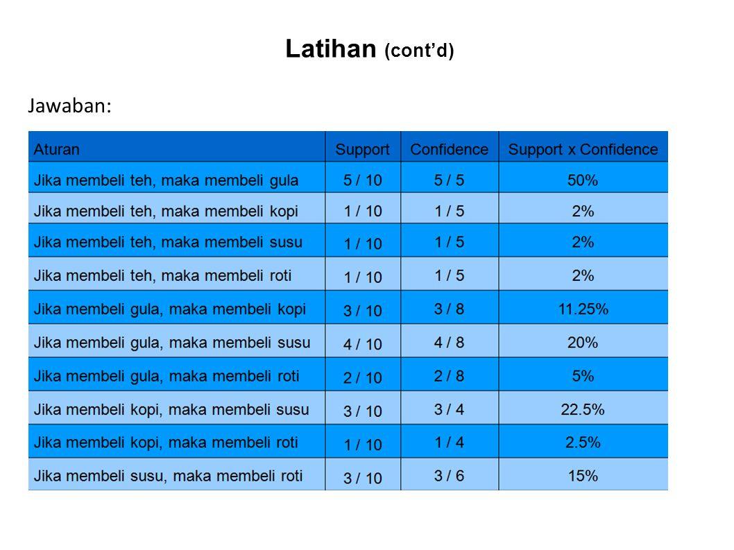 Latihan (cont'd) Jawaban: