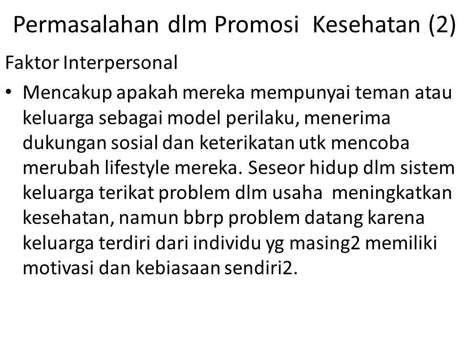 Permasalahan dlm Promosi Kesehatan (2)