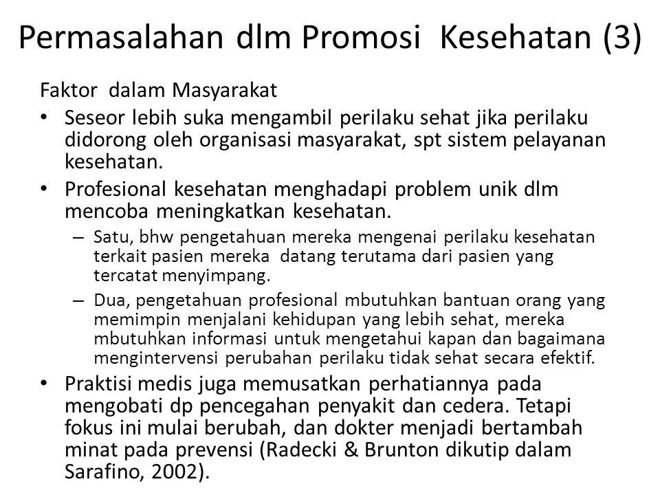 Permasalahan dlm Promosi Kesehatan (3)