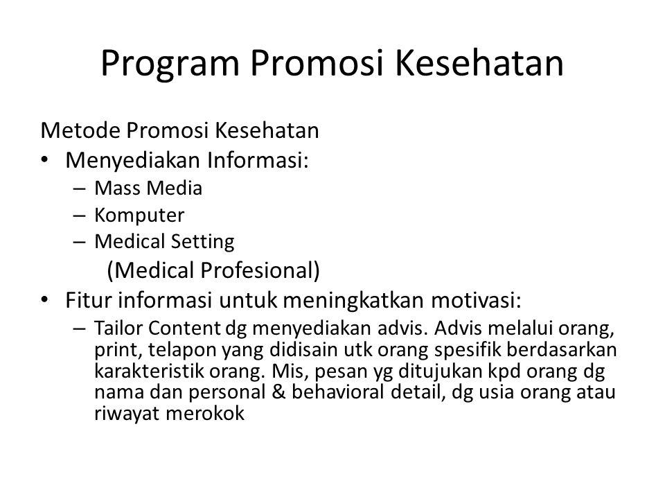 Program Promosi Kesehatan