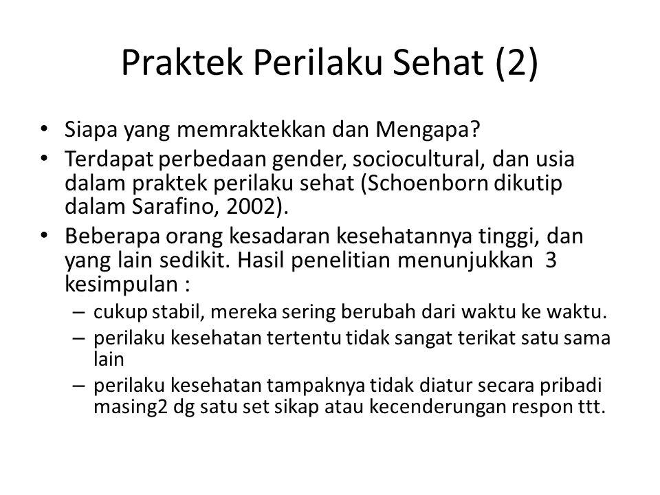 Praktek Perilaku Sehat (2)