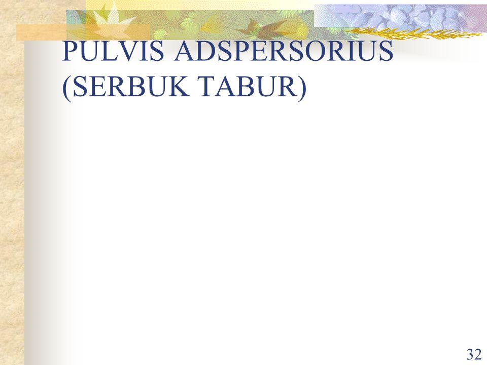 PULVIS ADSPERSORIUS (SERBUK TABUR)