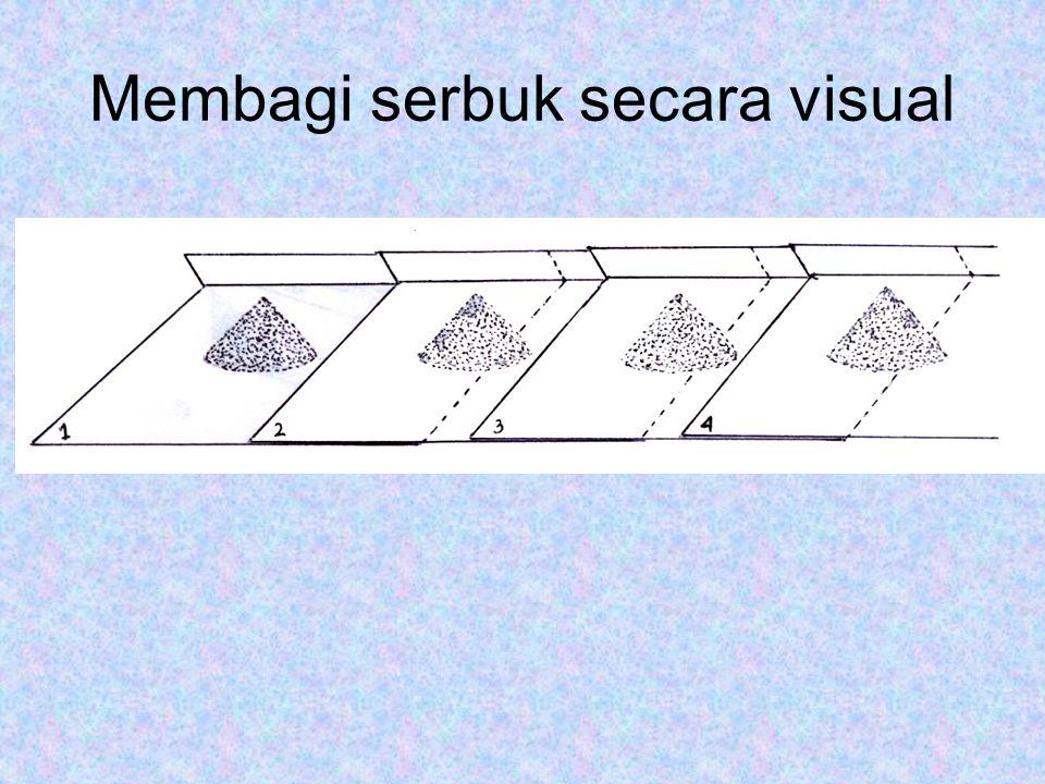 Membagi serbuk secara visual
