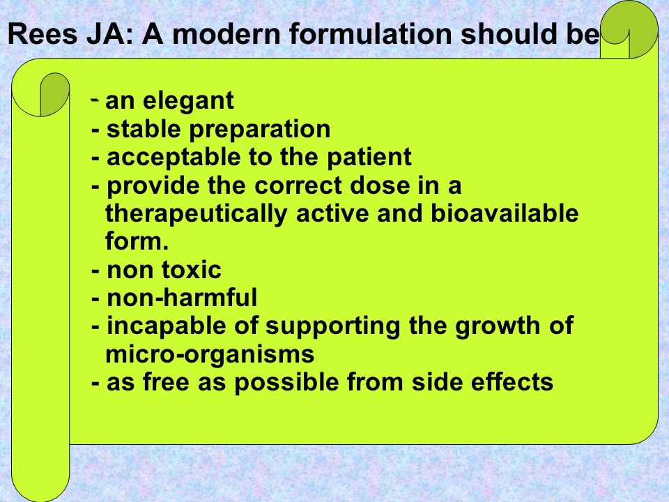 Rees JA: A modern formulation should be:
