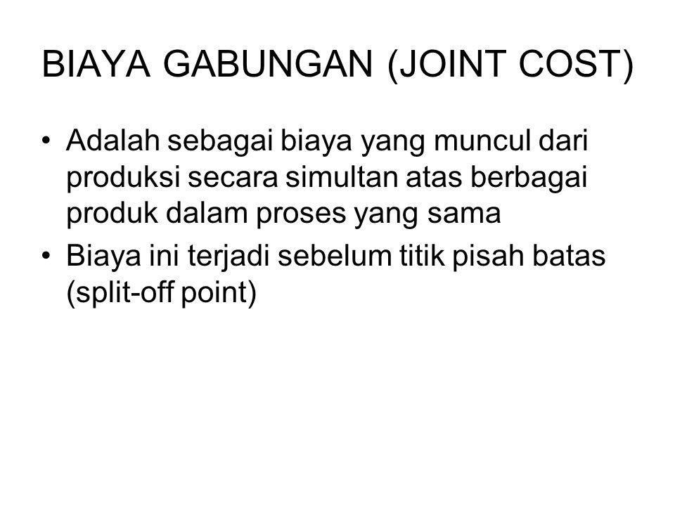 BIAYA GABUNGAN (JOINT COST)