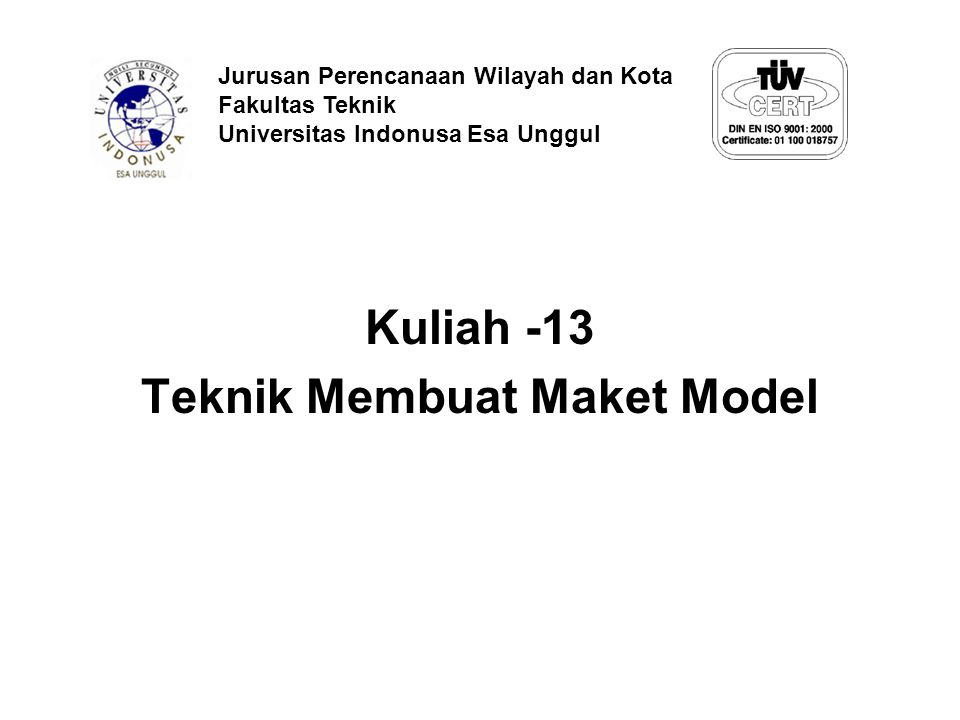 Teknik Membuat Maket Model