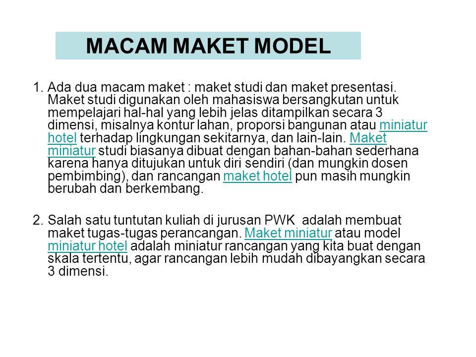 MACAM MAKET MODEL