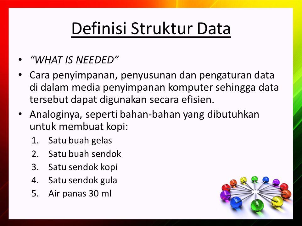 Definisi Struktur Data