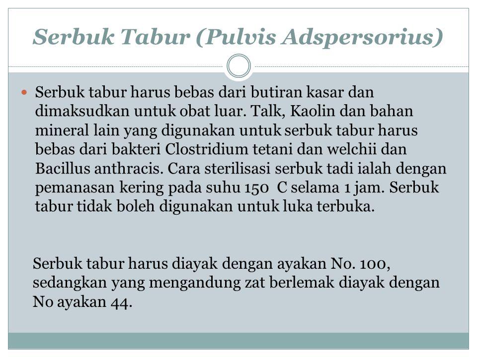 Serbuk Tabur (Pulvis Adspersorius)