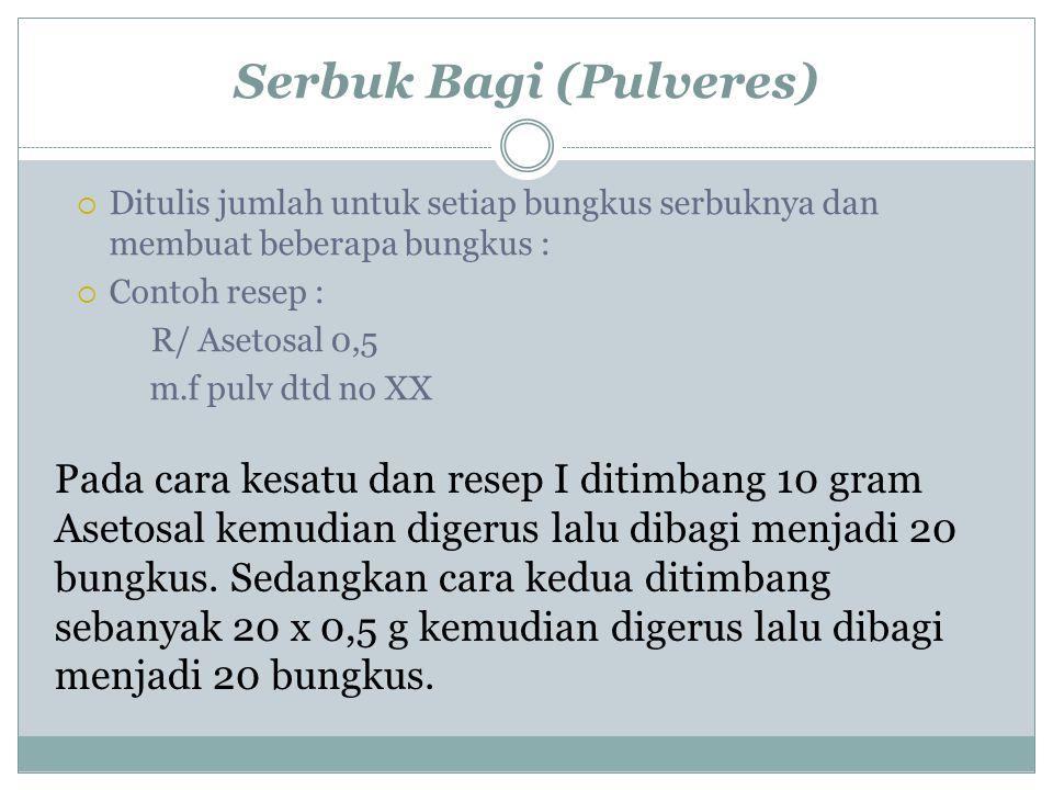 Serbuk Bagi (Pulveres)