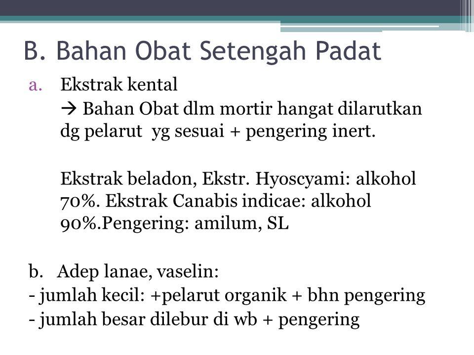 B. Bahan Obat Setengah Padat