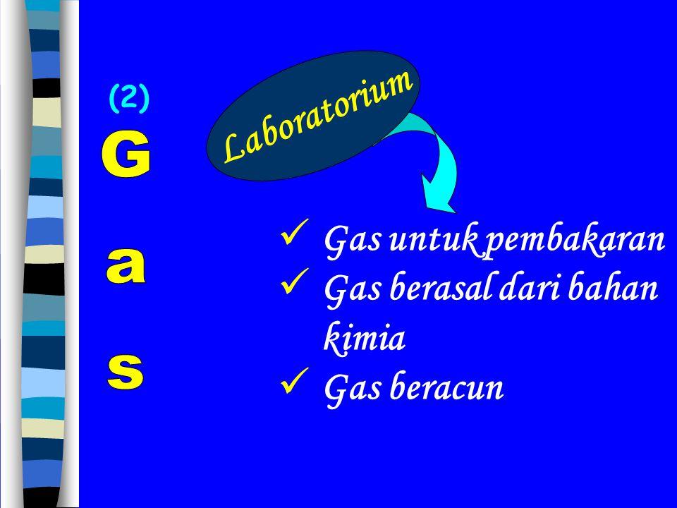 Gas berasal dari bahan kimia Gas beracun Laboratorium