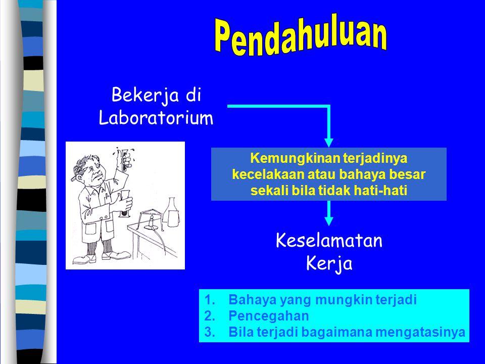 Bekerja di Laboratorium