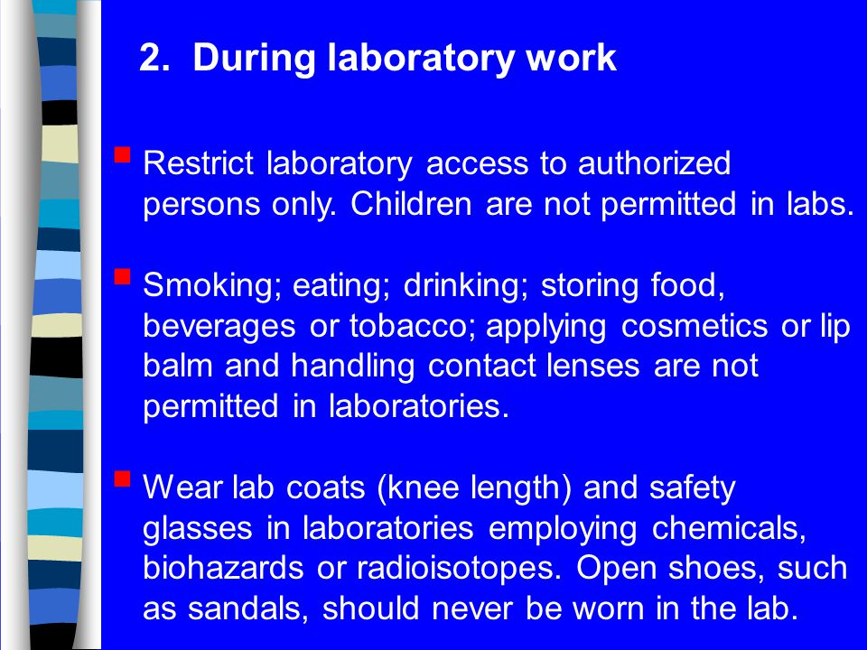 2. During laboratory work
