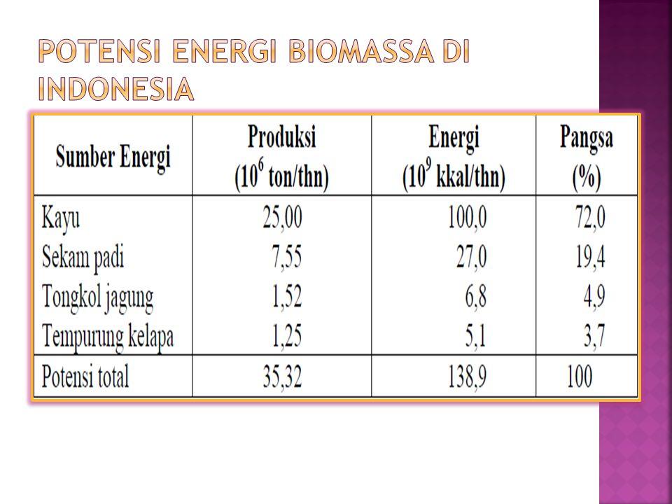 Potensi Energi Biomassa di Indonesia