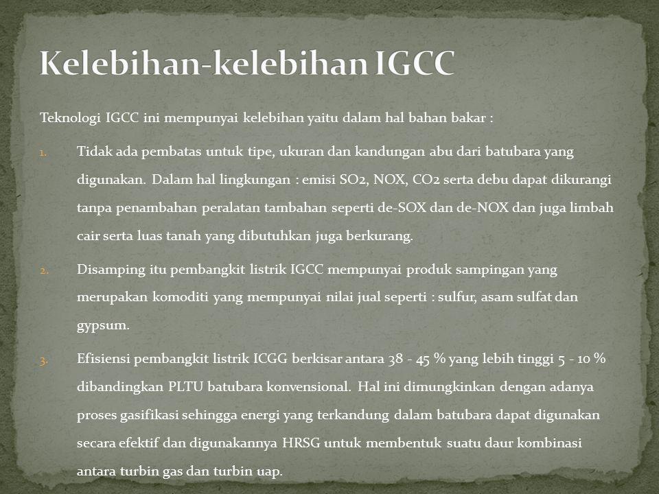 Kelebihan-kelebihan IGCC