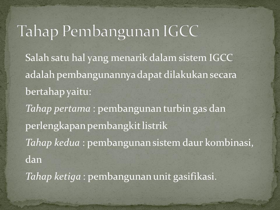 Tahap Pembangunan IGCC