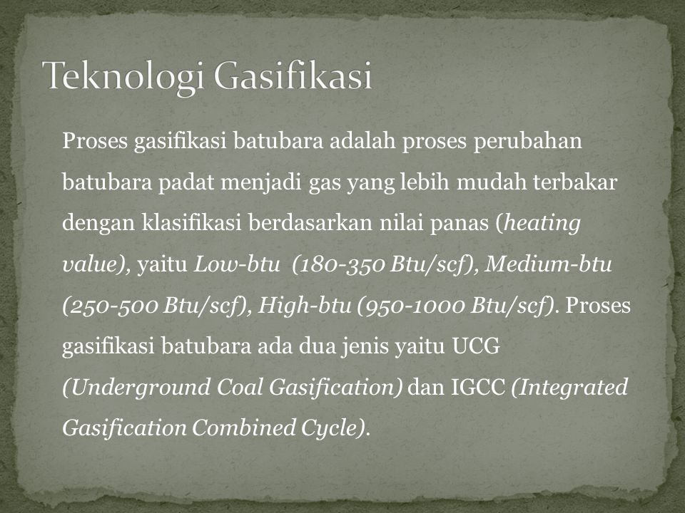 Teknologi Gasifikasi