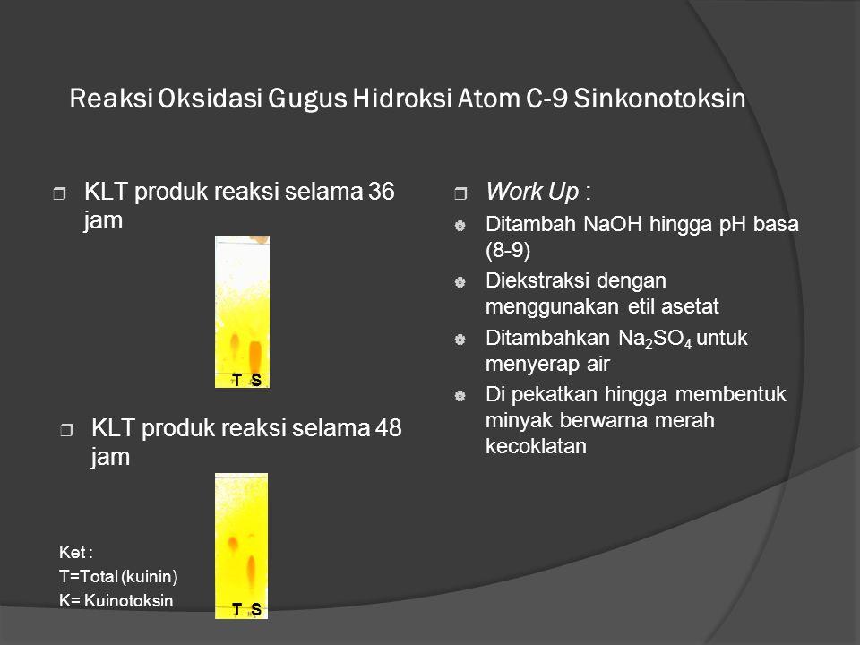 Reaksi Oksidasi Gugus Hidroksi Atom C-9 Sinkonotoksin