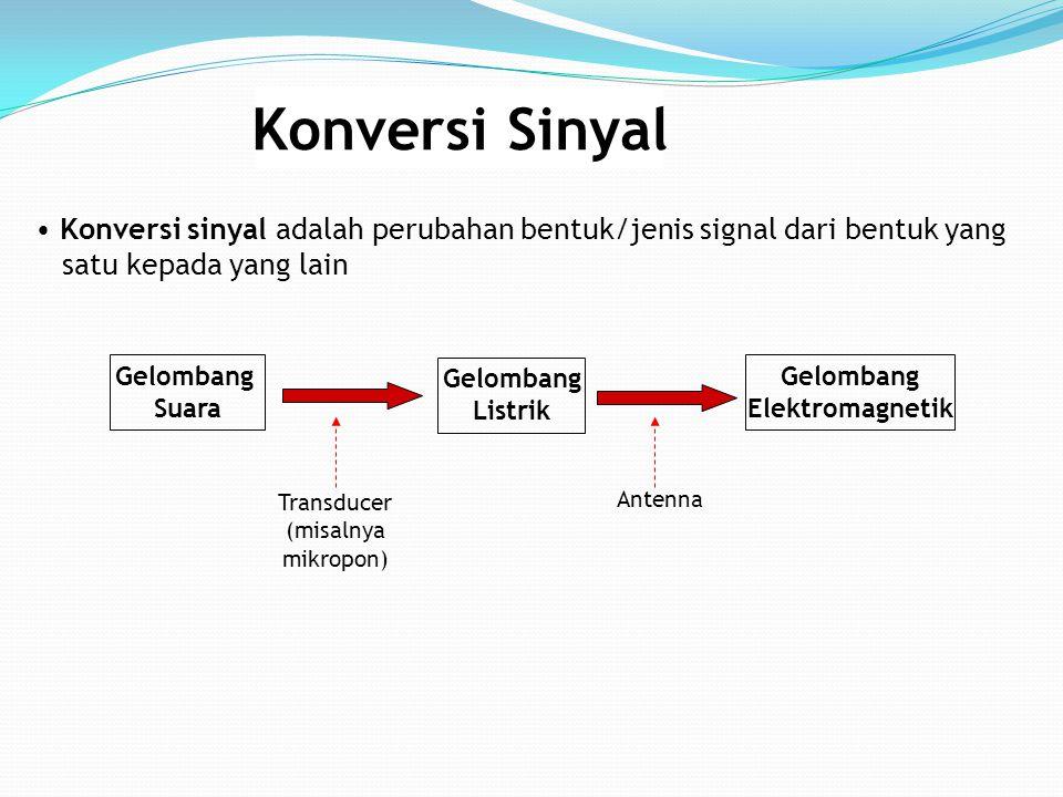 Konversi Sinyal Konversi sinyal adalah perubahan bentuk/jenis signal dari bentuk yang. satu kepada yang lain.