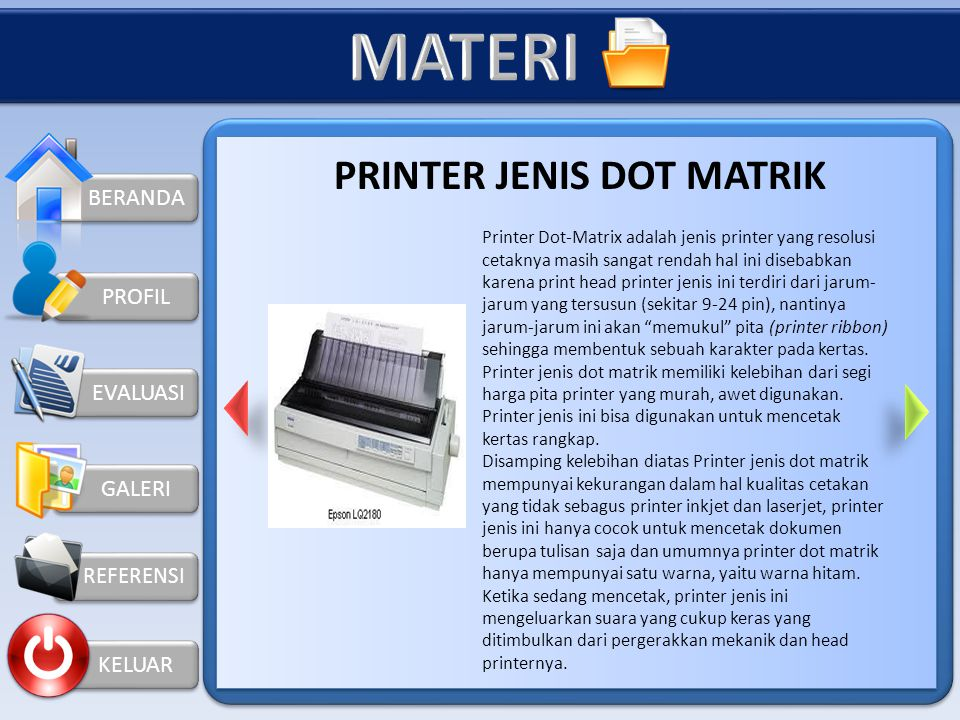 PRINTER JENIS DOT MATRIK