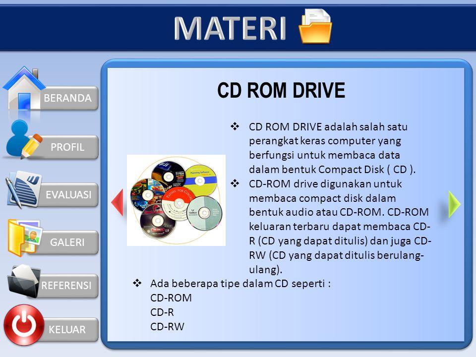 MATERI CD ROM DRIVE BERANDA