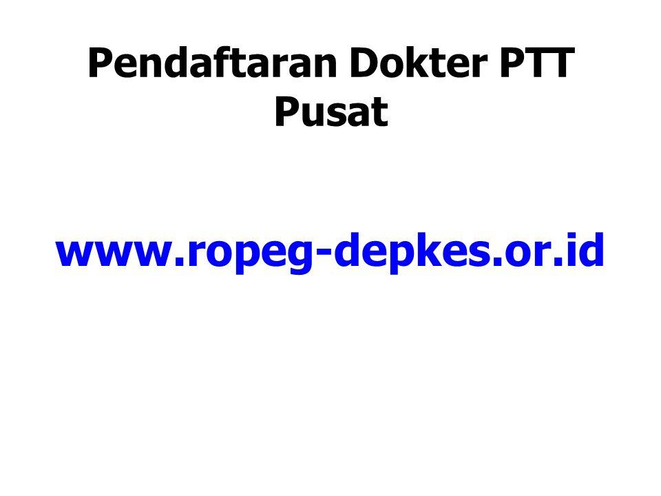 Pendaftaran Dokter PTT Pusat