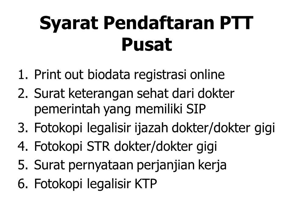 Syarat Pendaftaran PTT Pusat