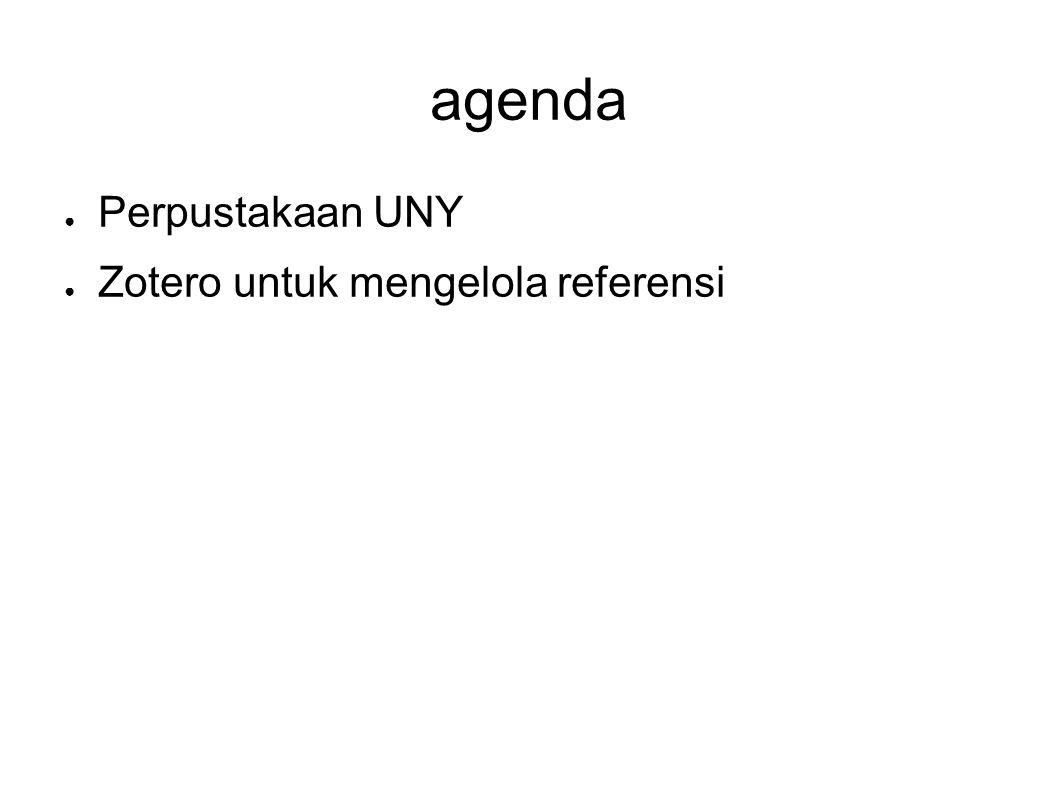 agenda Perpustakaan UNY Zotero untuk mengelola referensi