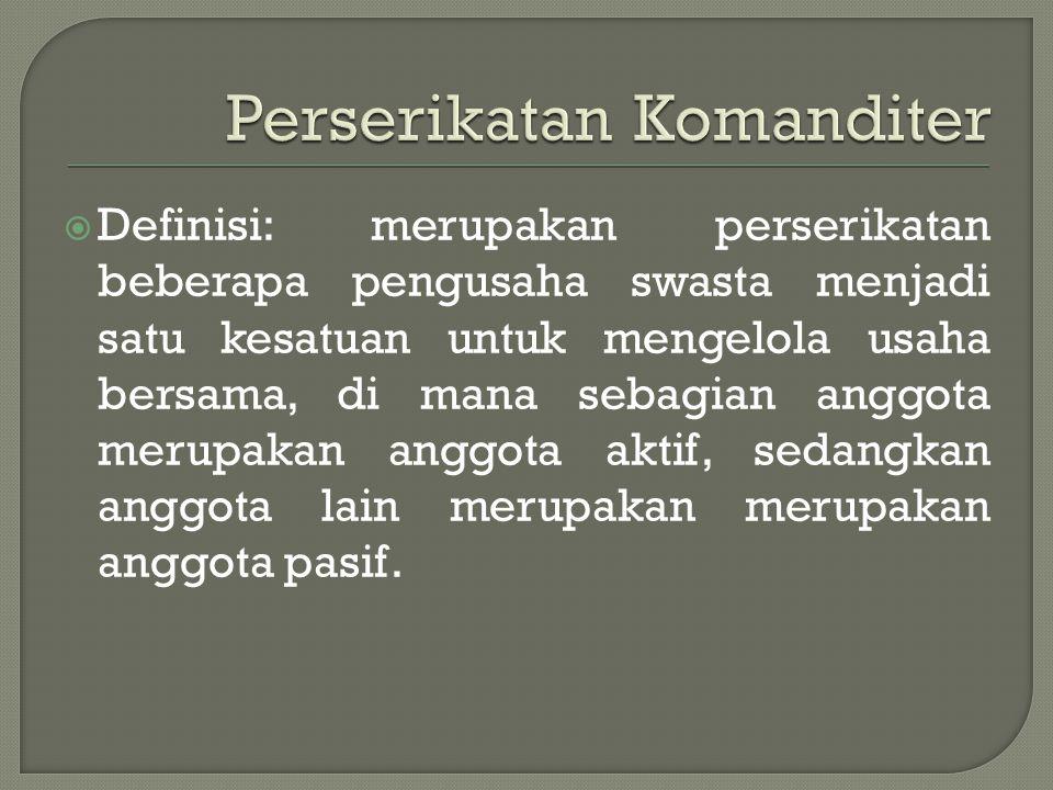 Perserikatan Komanditer