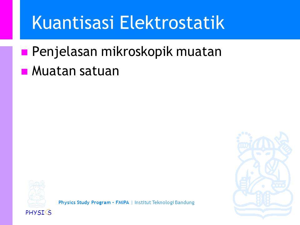 Kuantisasi Elektrostatik