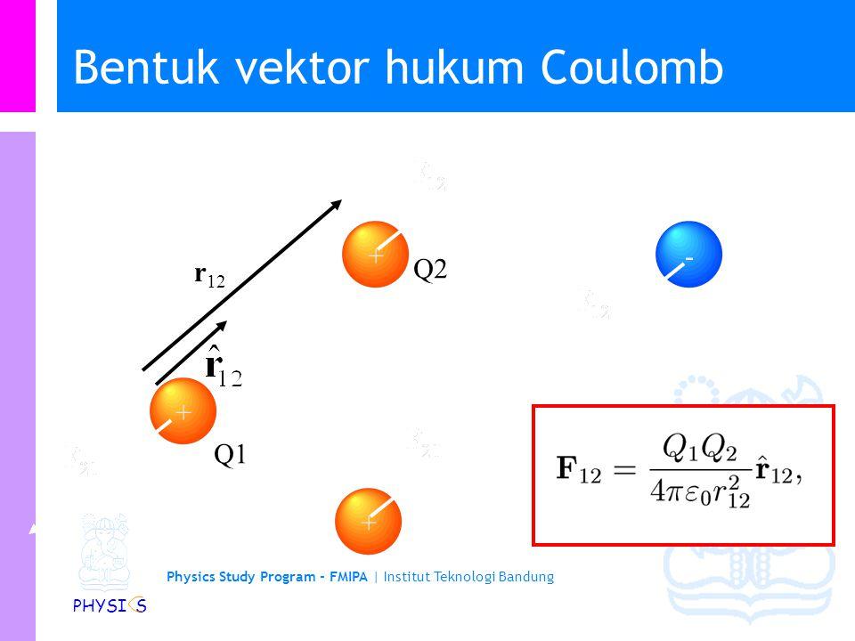 Bentuk vektor hukum Coulomb