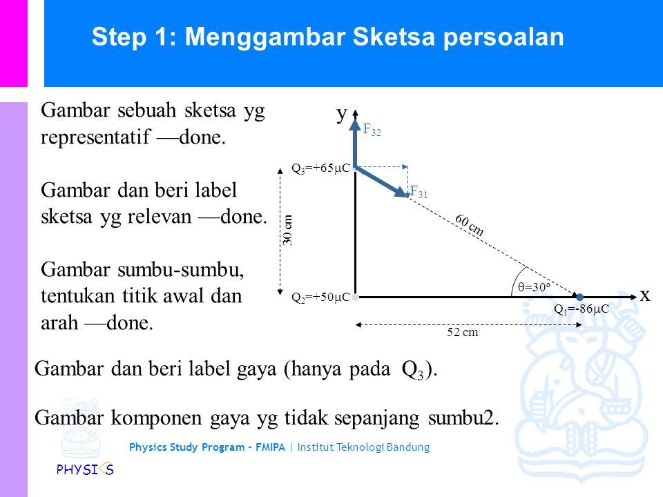 Step 1: Menggambar Sketsa persoalan