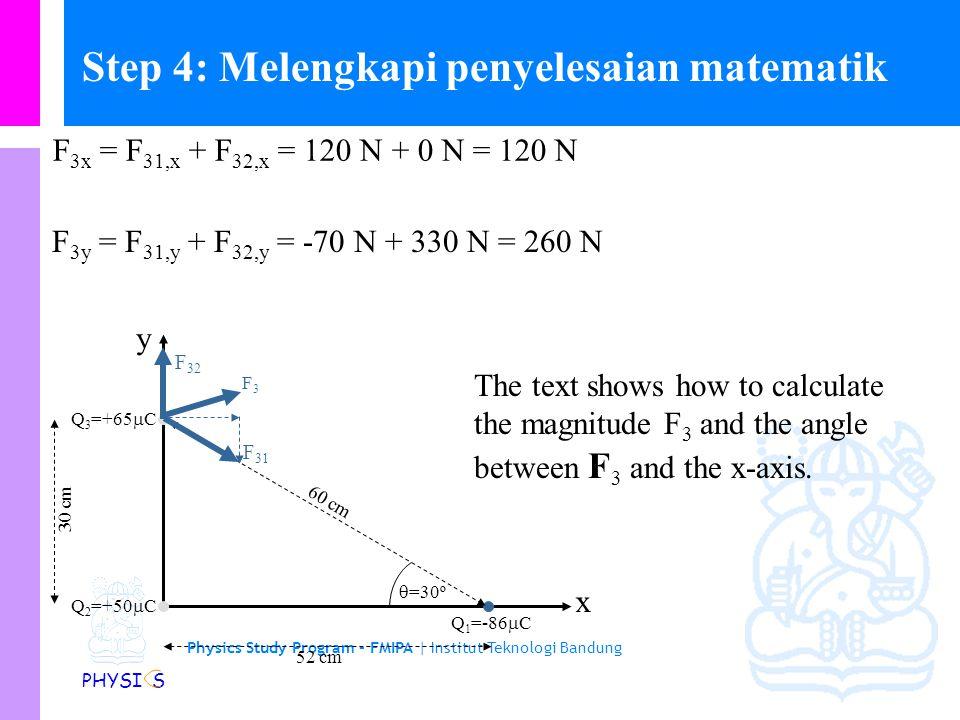 Step 4: Melengkapi penyelesaian matematik