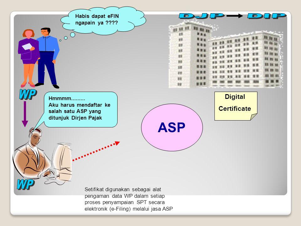 ASP Digital Certificate WP WP Habis dapat eFIN ngapain ya