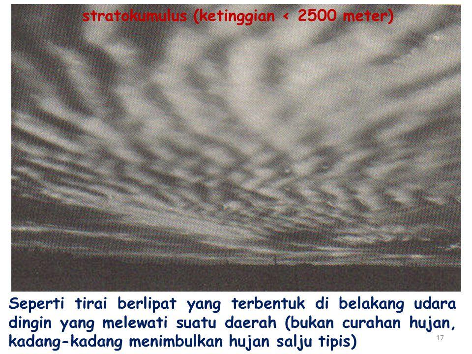stratokumulus (ketinggian ‹ 2500 meter)