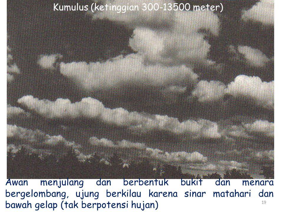 Kumulus (ketinggian 300-13500 meter)
