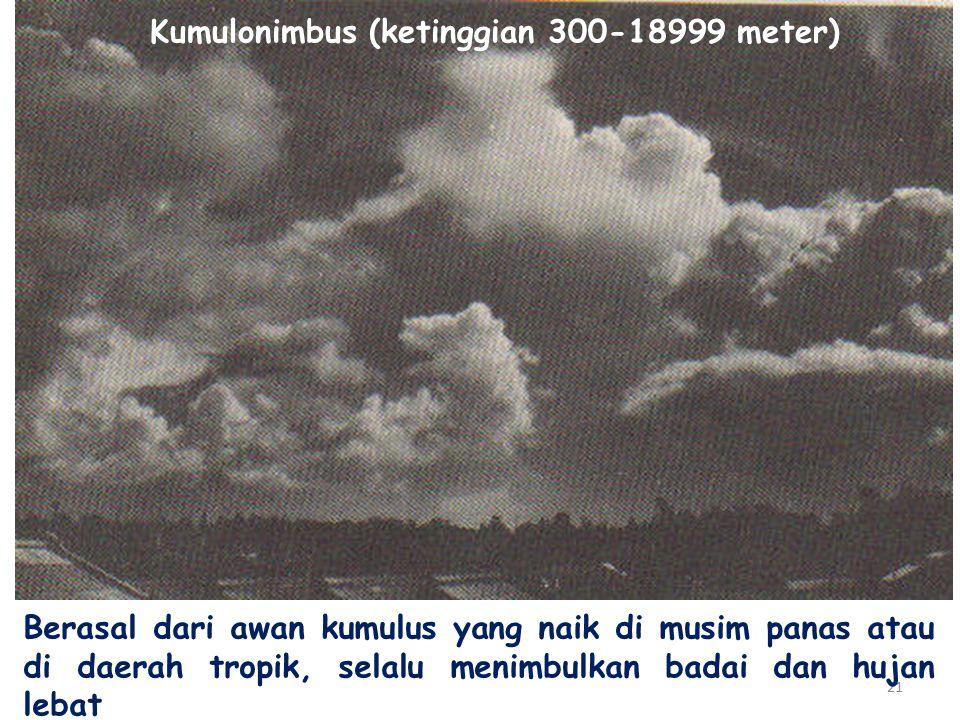 Kumulonimbus (ketinggian 300-18999 meter)