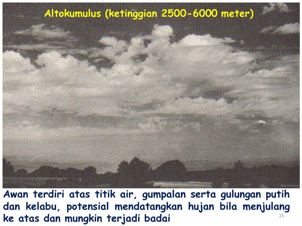 Altokumulus (ketinggian 2500-6000 meter)