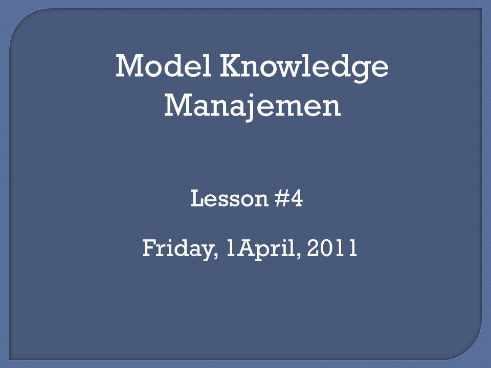 Model Knowledge Manajemen