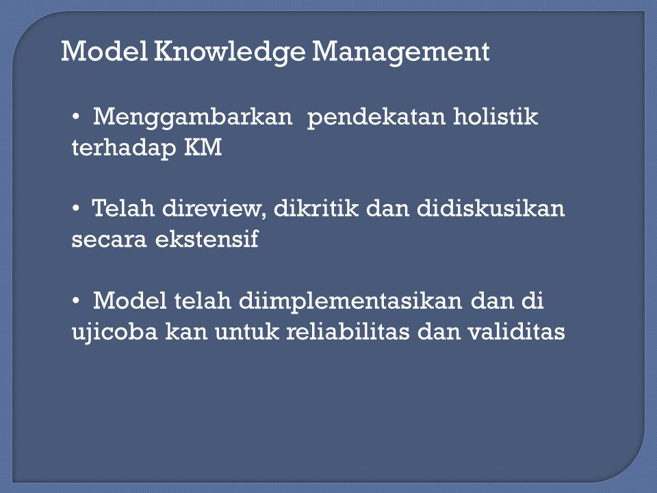 Model Knowledge Management