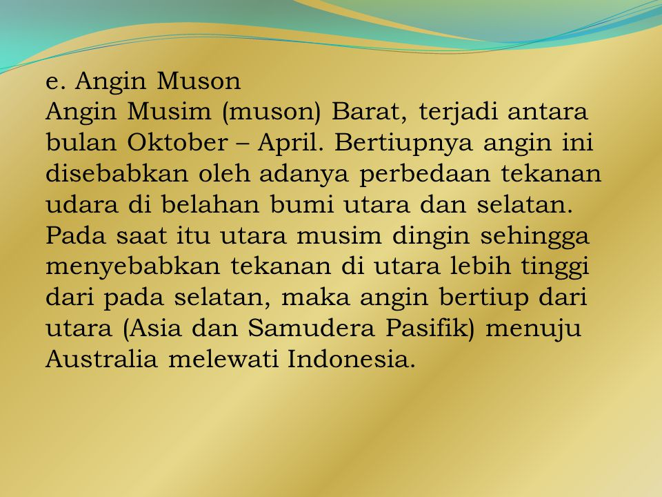 e. Angin Muson