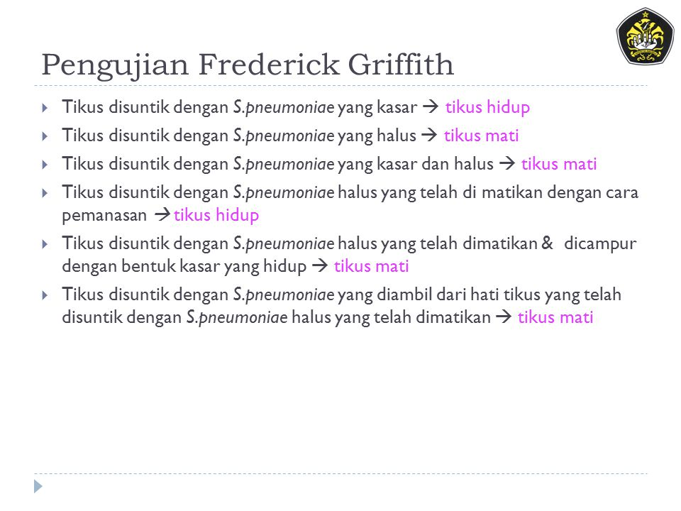 Pengujian Frederick Griffith