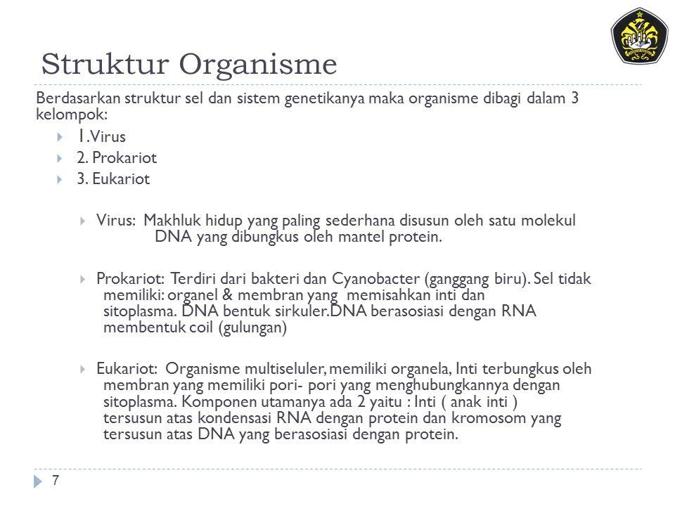 Struktur Organisme 1. Virus