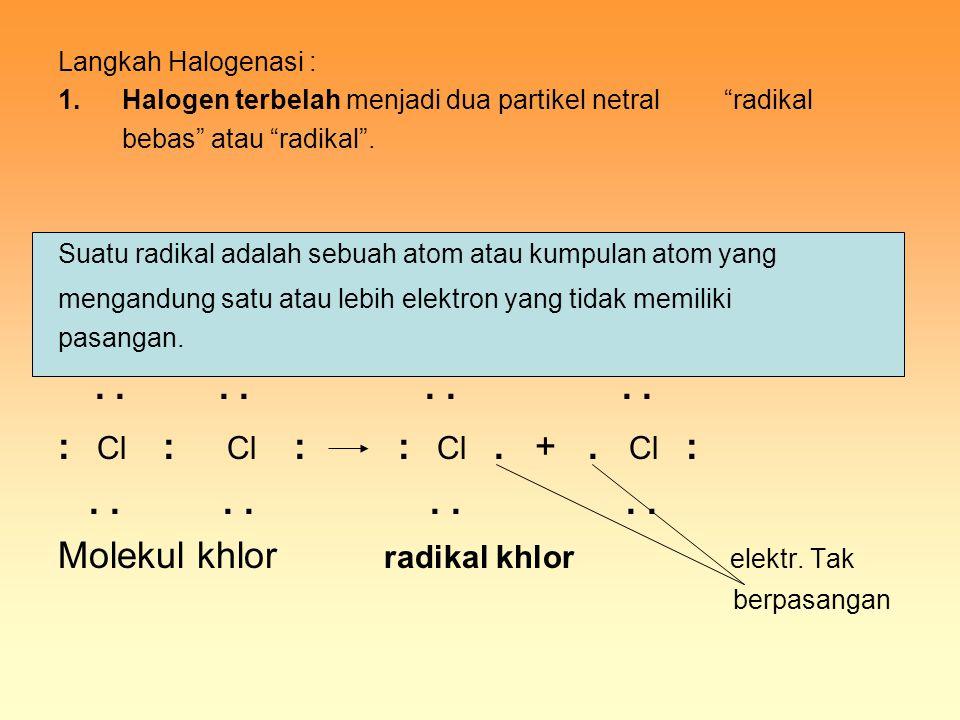 Molekul khlor radikal khlor elektr. Tak