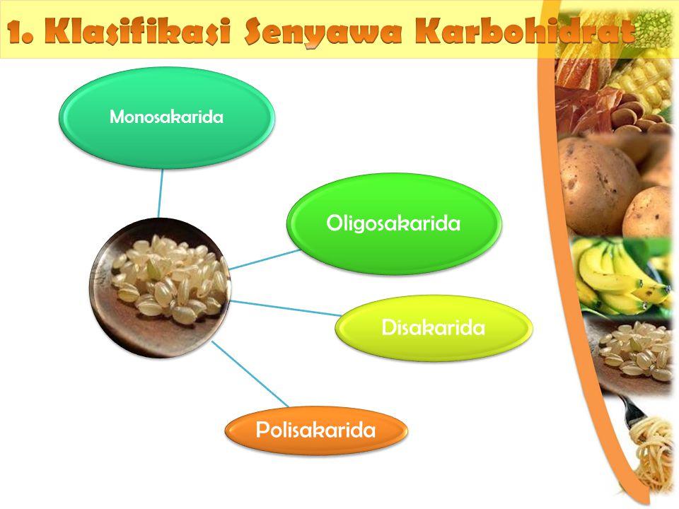 1. Klasifikasi Senyawa Karbohidrat