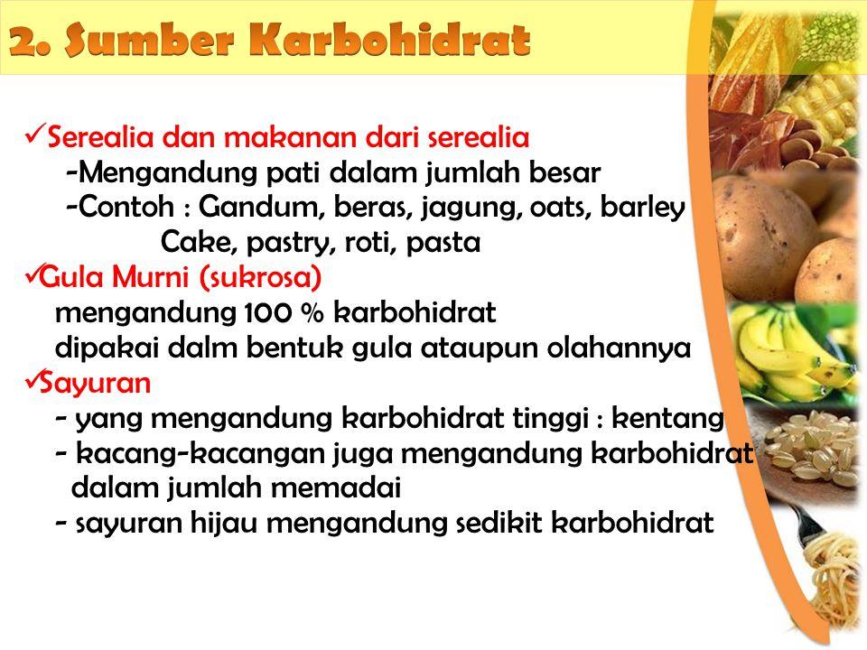2. Sumber Karbohidrat Serealia dan makanan dari serealia